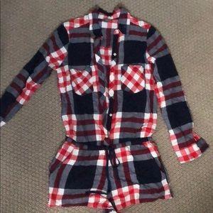 Aerie flannel pajama shortie